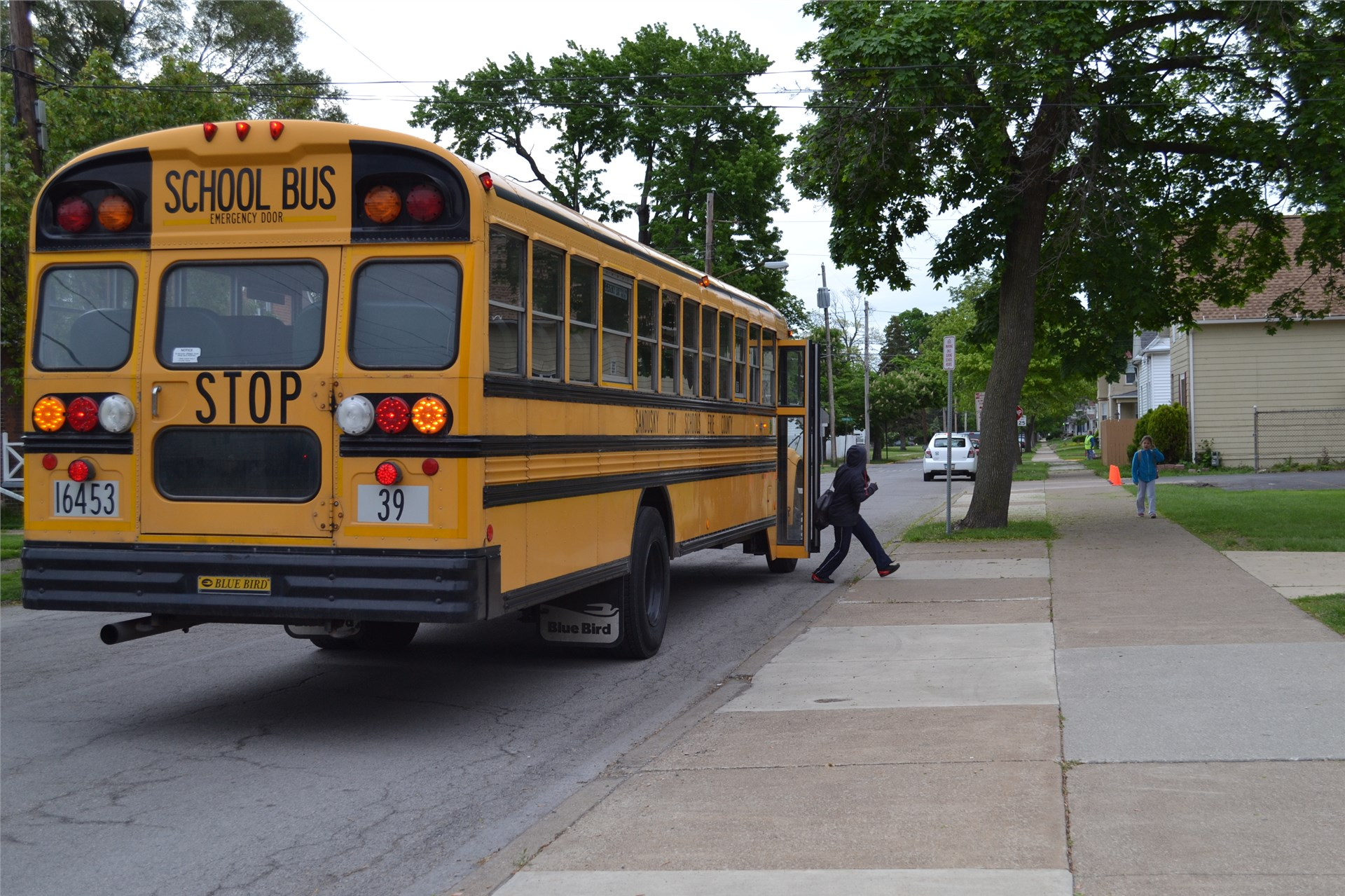 Photo of Bus Stopped at School