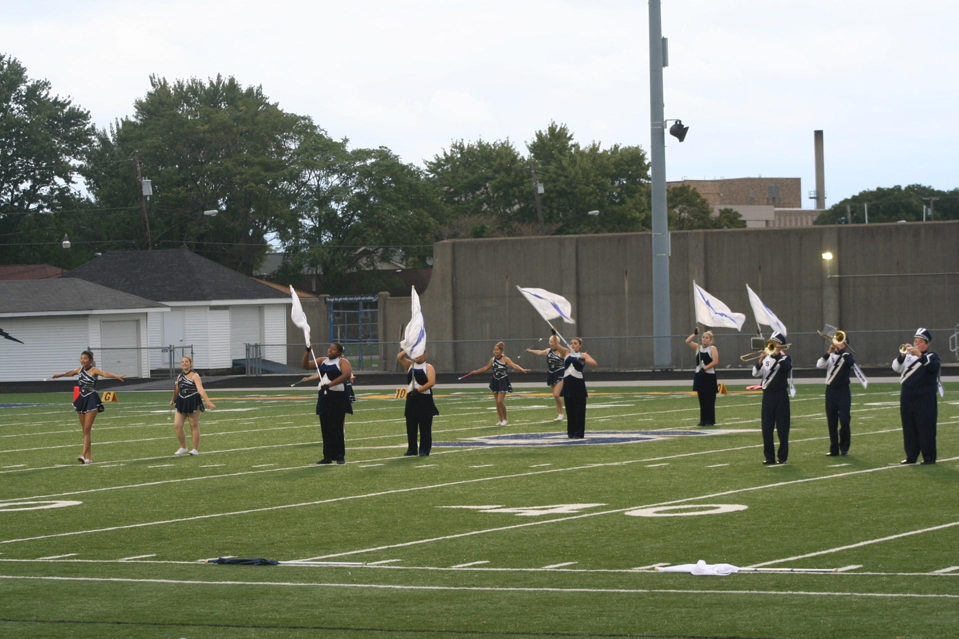 Sandusky Blue Streak Flag Corps and Majorettes
