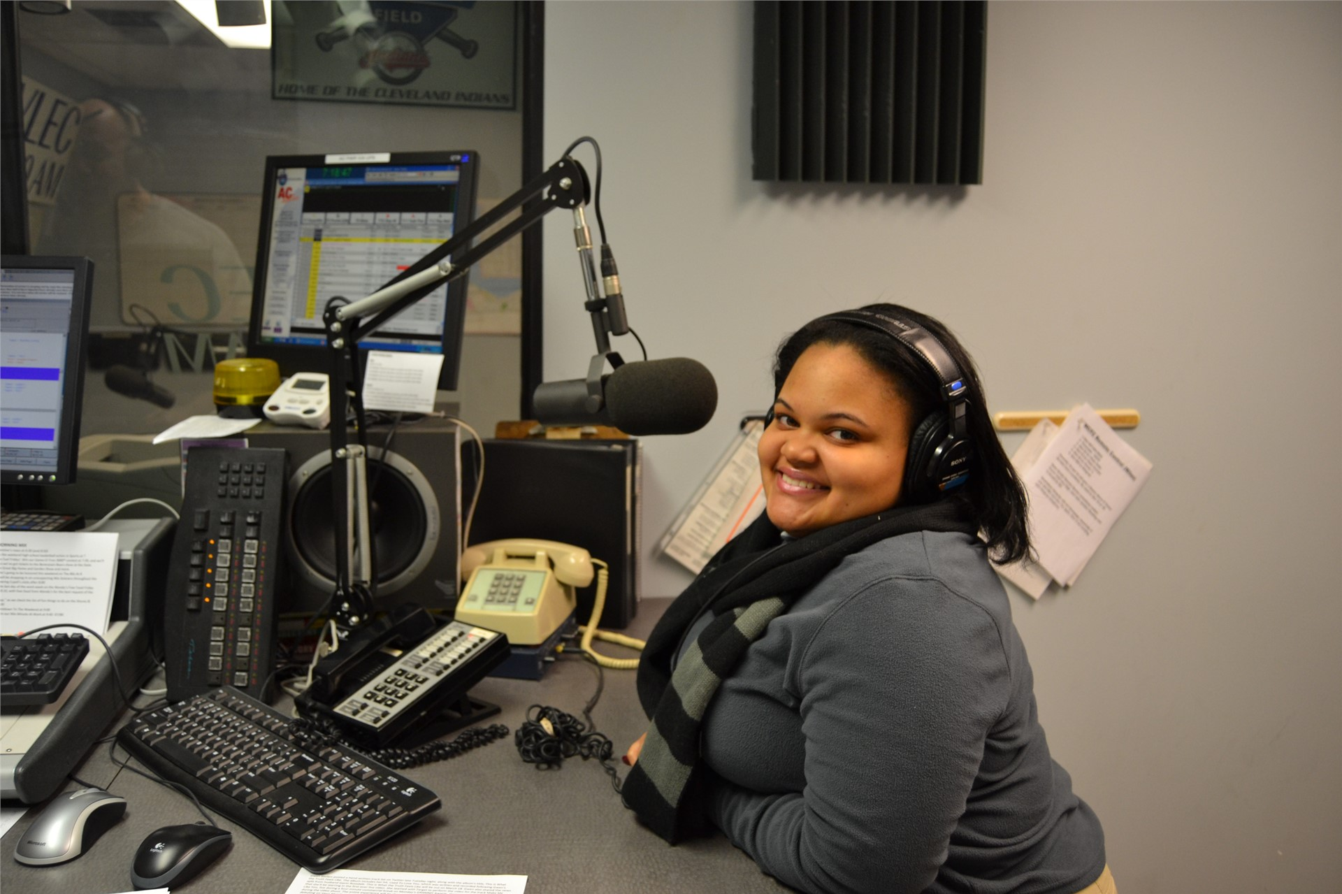 Student Interning at Radio Station