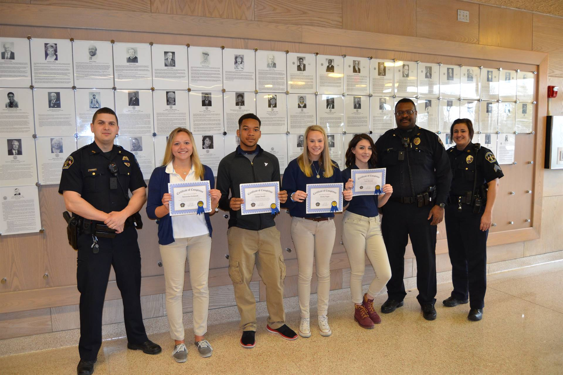 Students intern with Sandusky Police Department