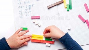 Boy with Math Tools