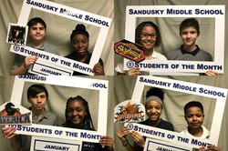 Sandusky Middle School Students of the Month