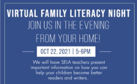 Virtual Family Literacy Night at Sandusky Early Learning Academy