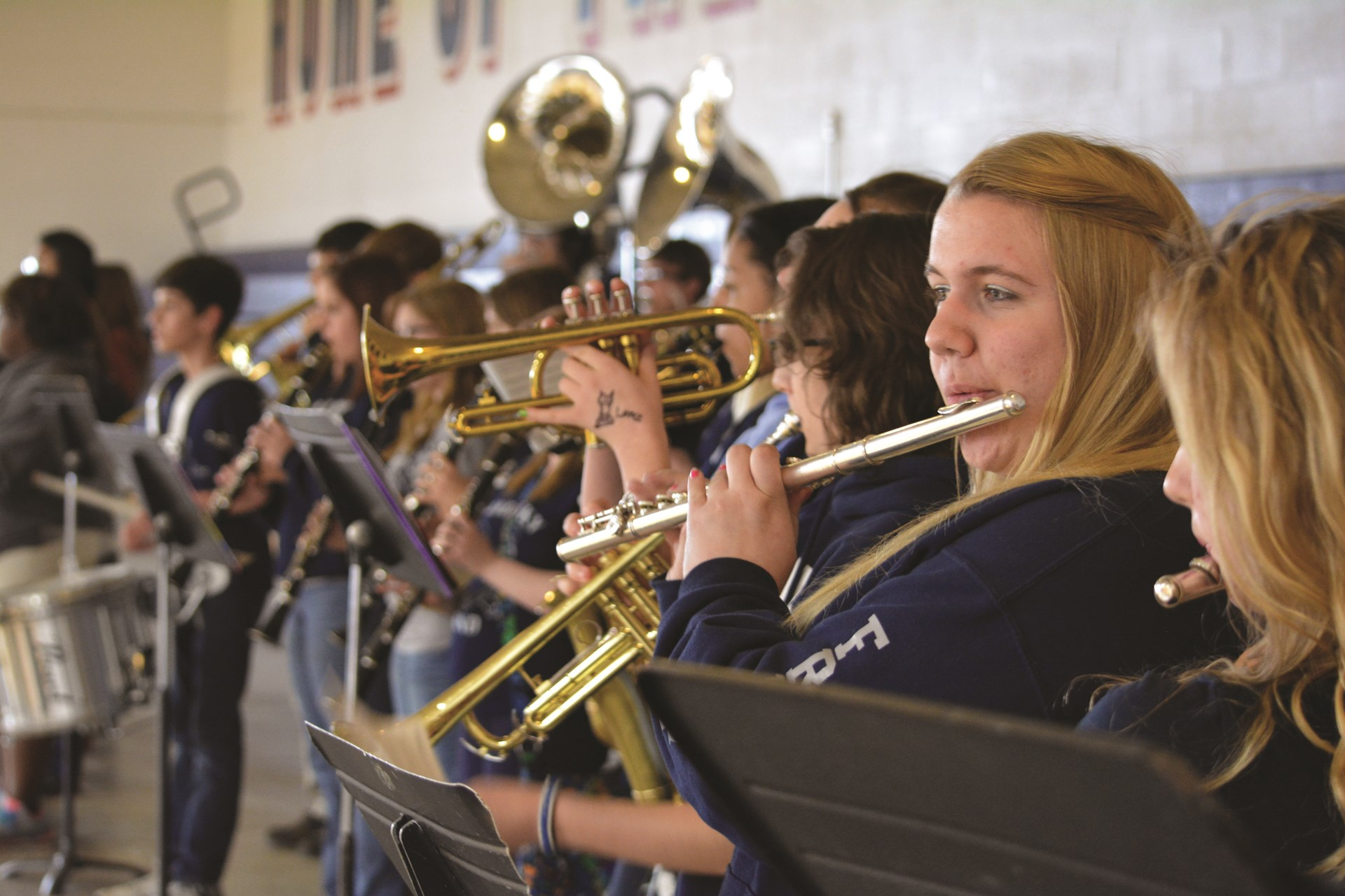 Photo SHS Band Members playing their instruments