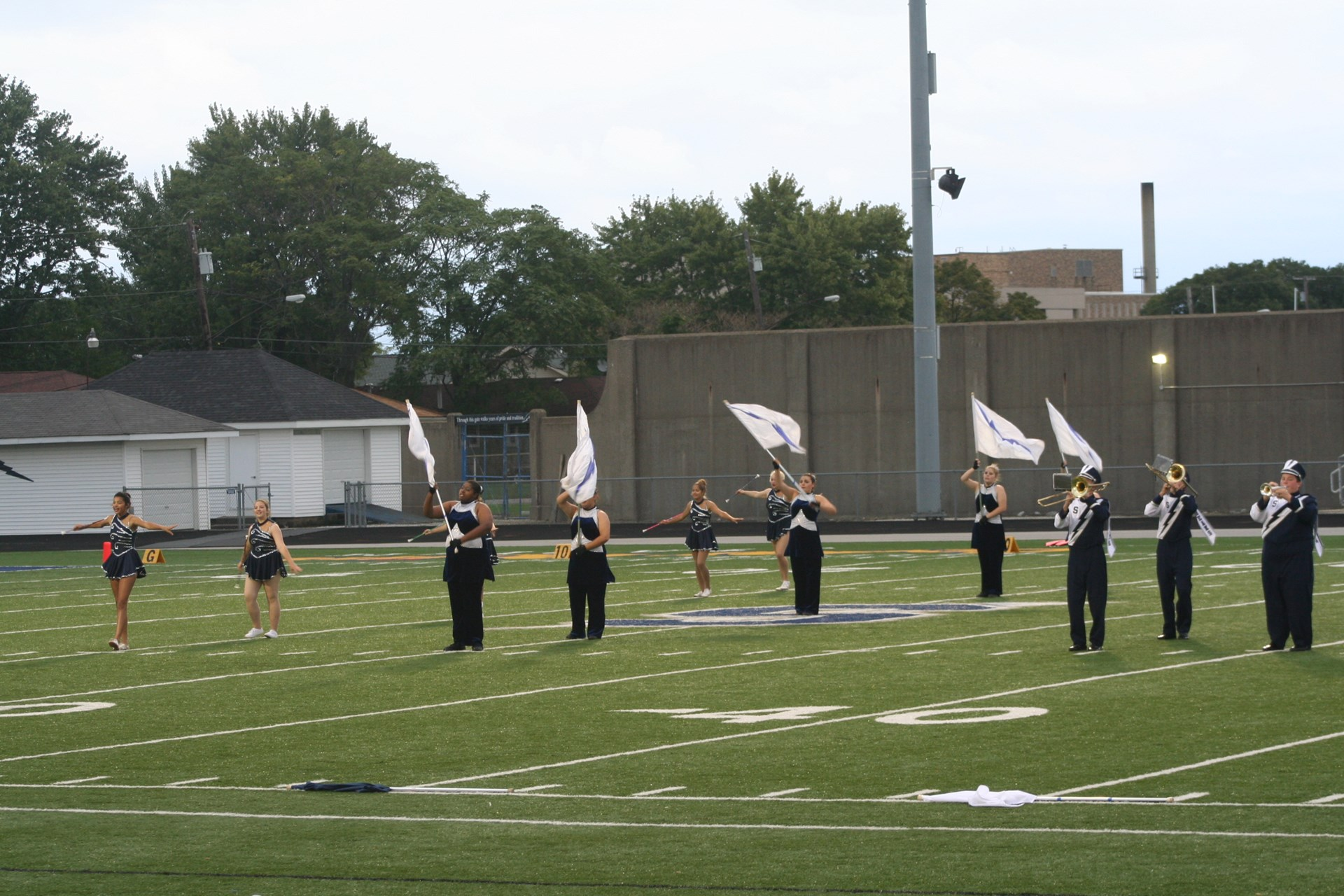 Sandusky Blue Streak Flag Corps and Majorettes