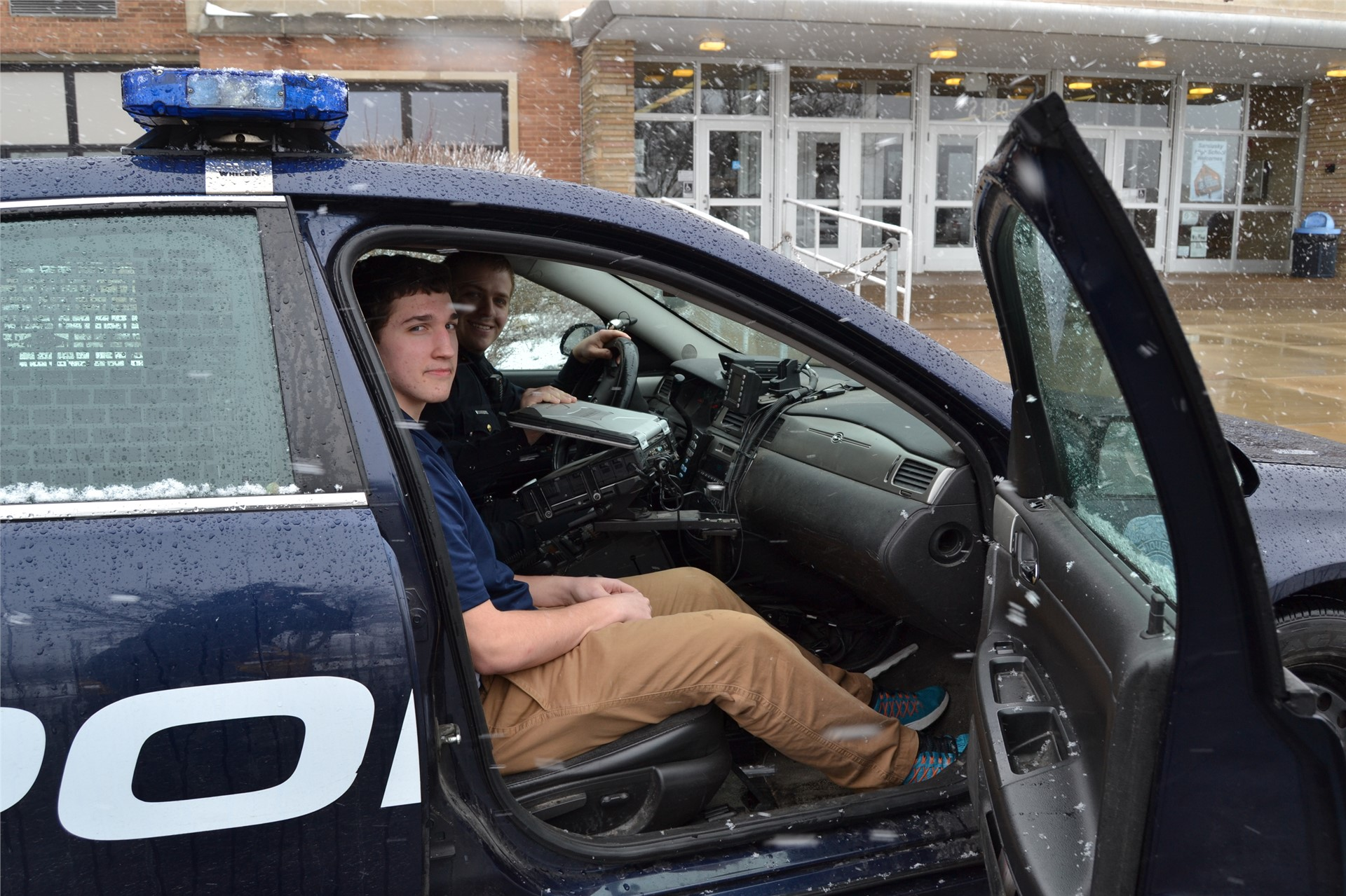 Student Interns with Sandusky Police Department