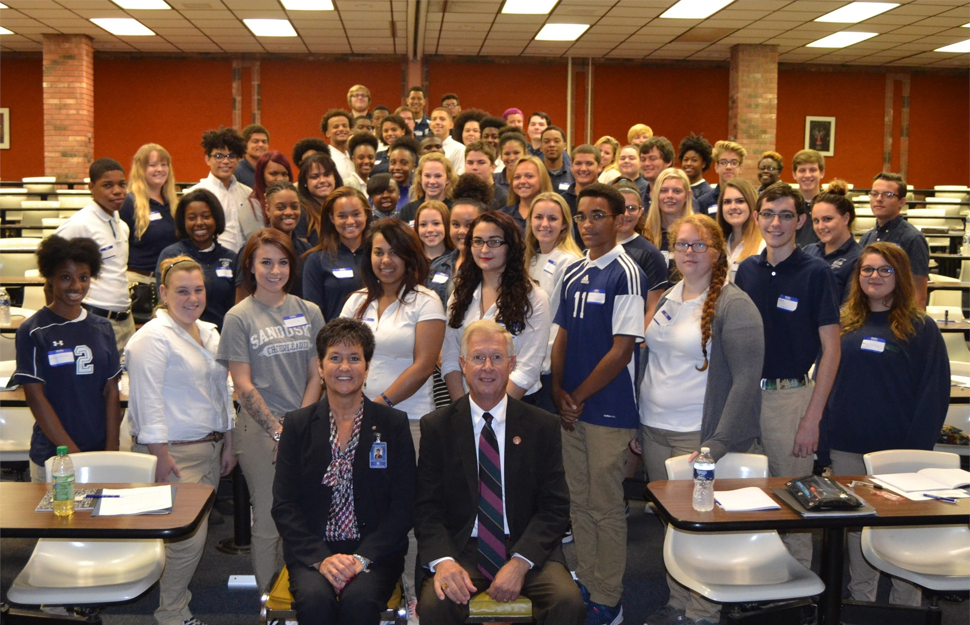 2016-2017 Global Internship Students with State Representative Ardnt
