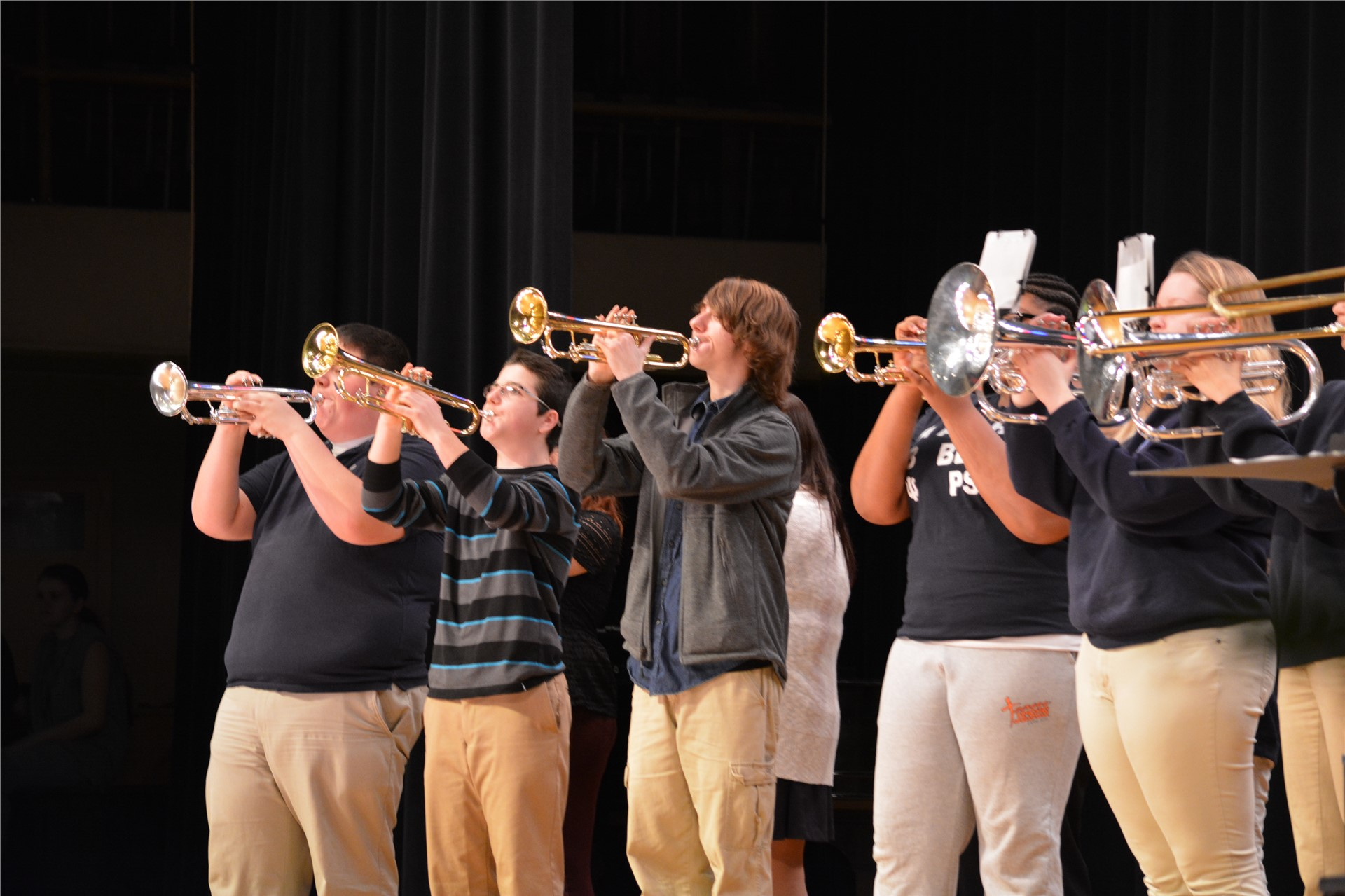 Photo of band students playing instruments
