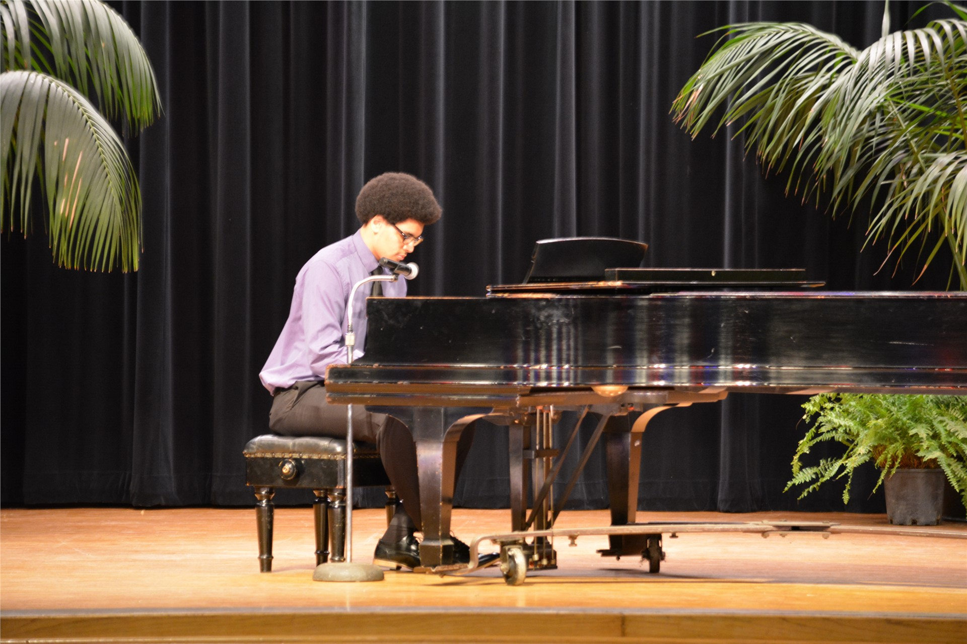 Photo of student playing piano