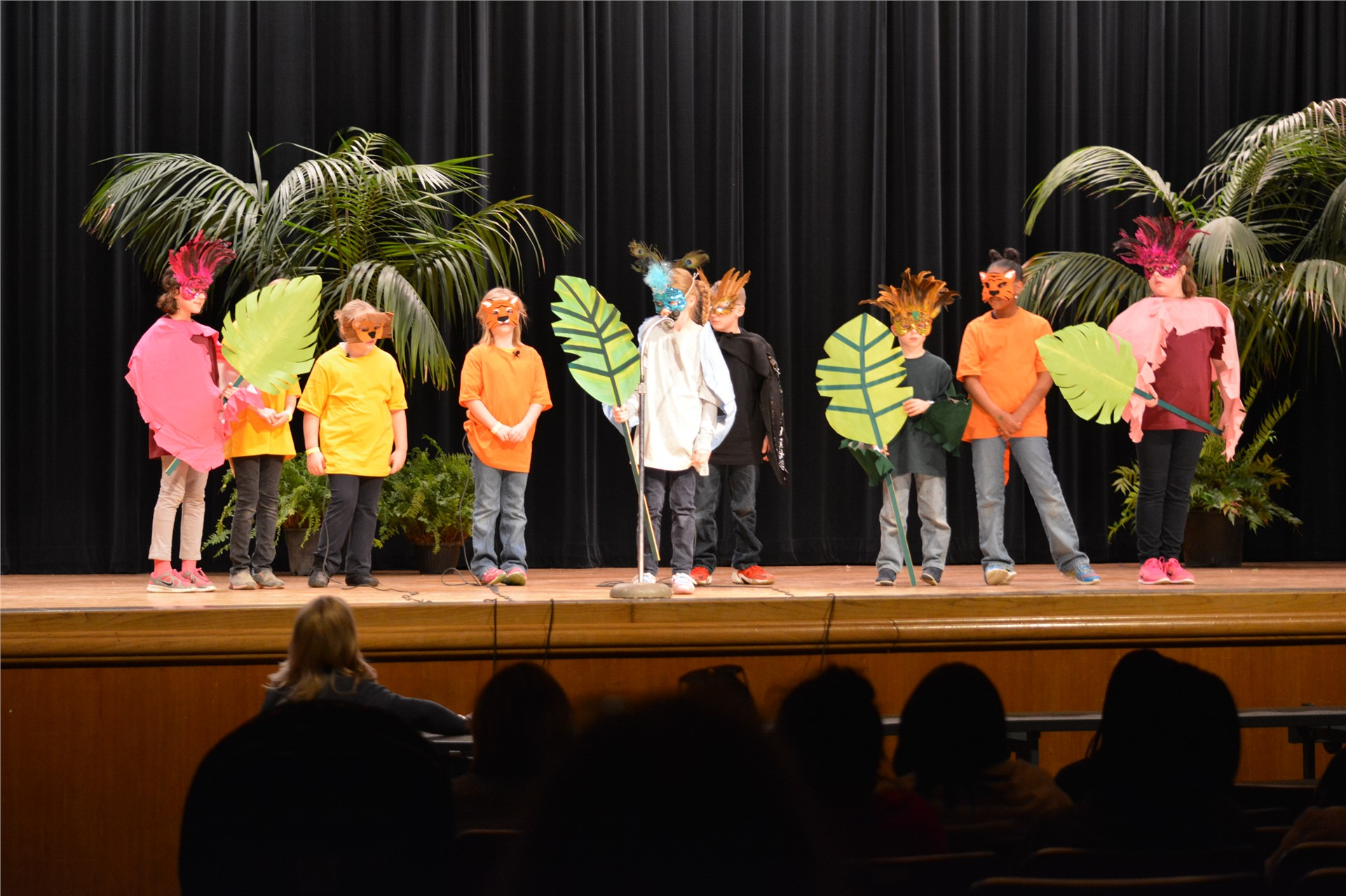 Photo of students putting on a skit