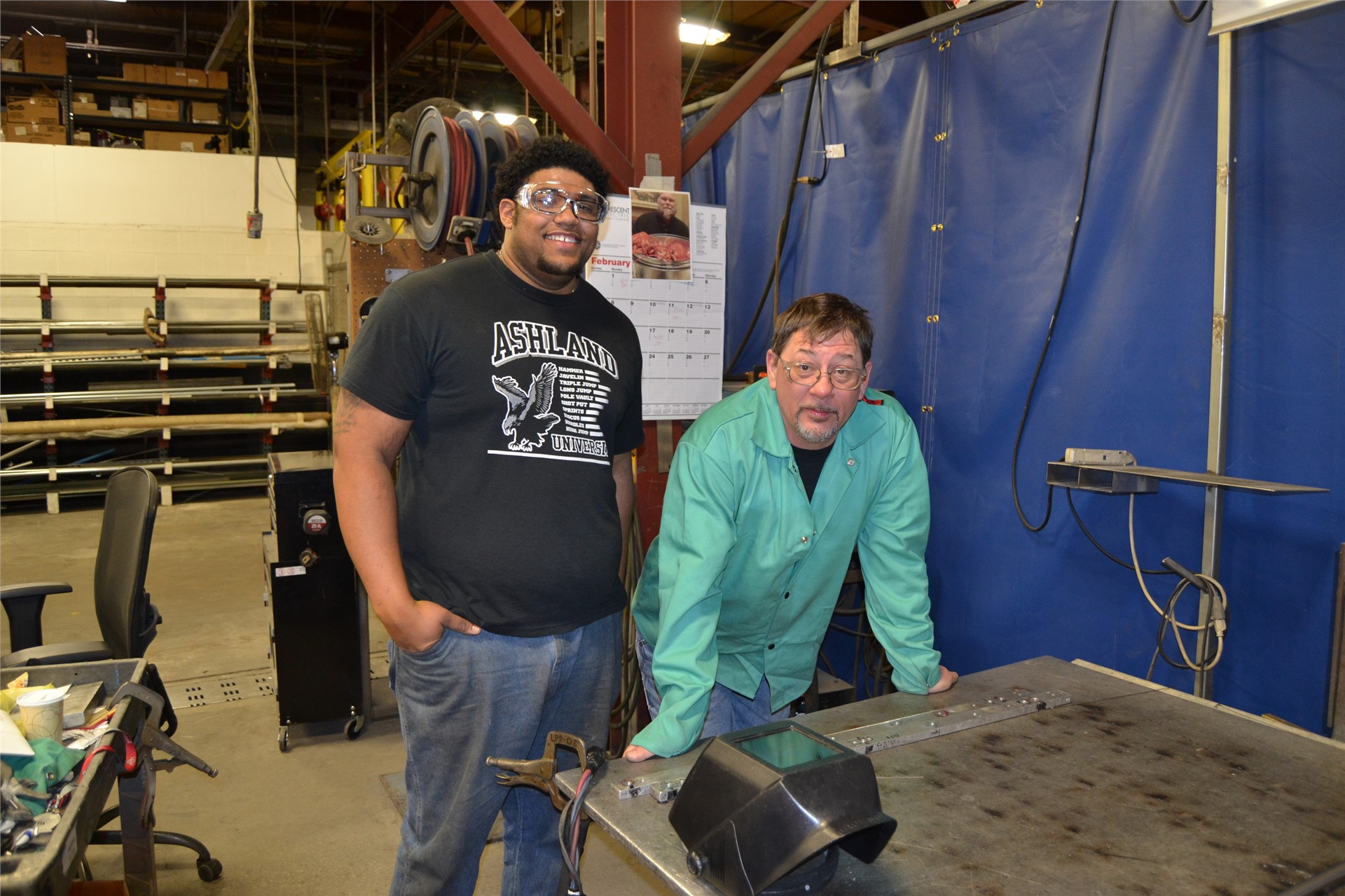 Student Interns in Welding at JBT Food Tech