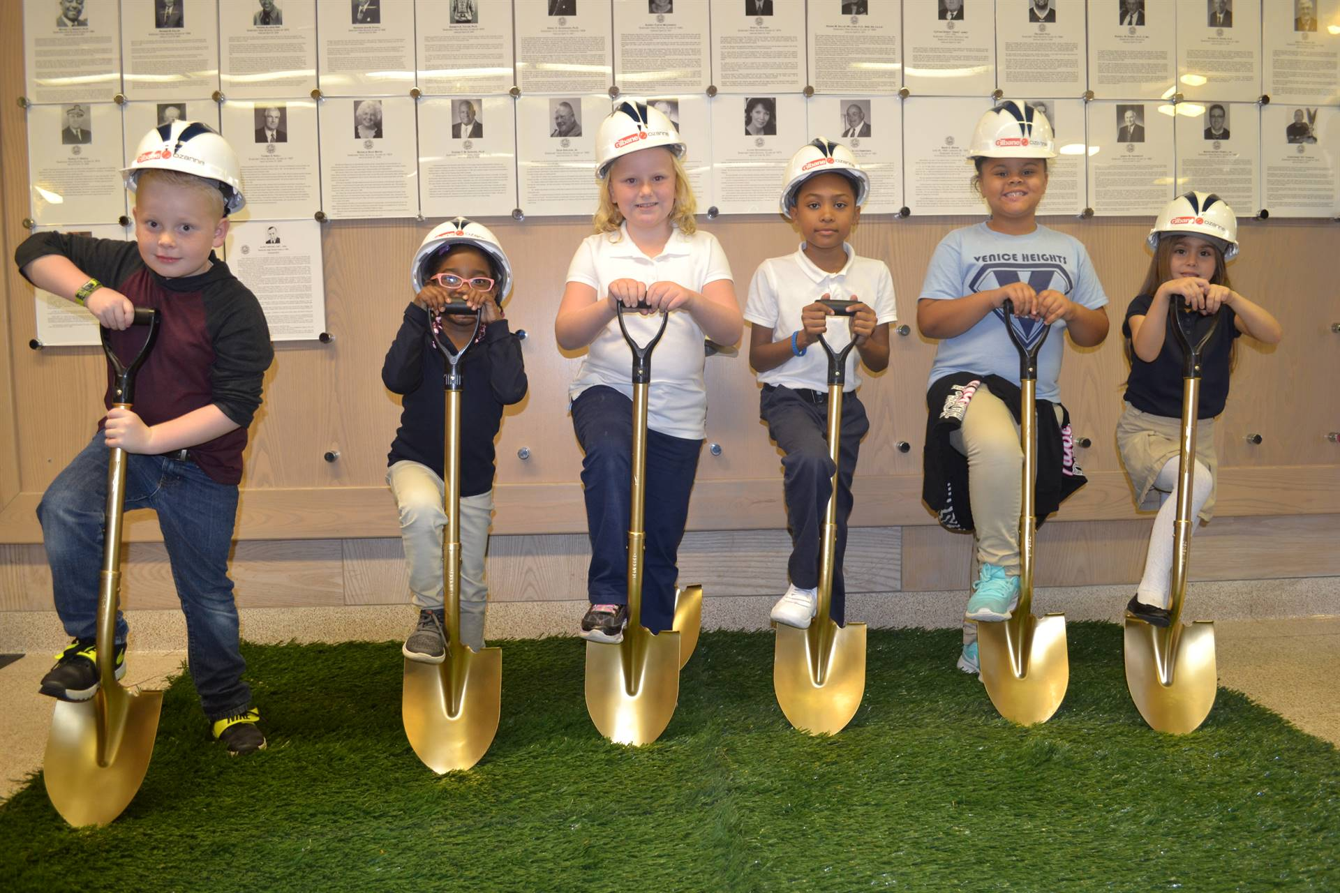 Students at the Groundbreaking Ceremony