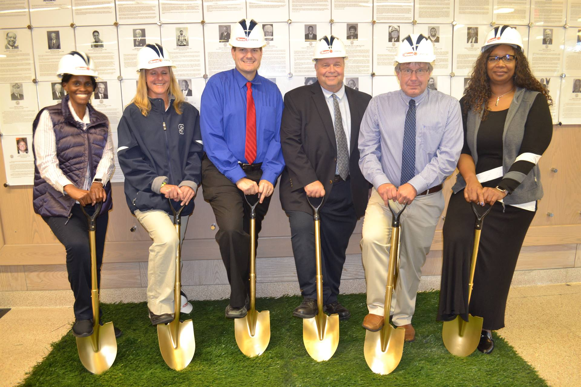 Elementary Principals at the Groundbreaking Ceremony