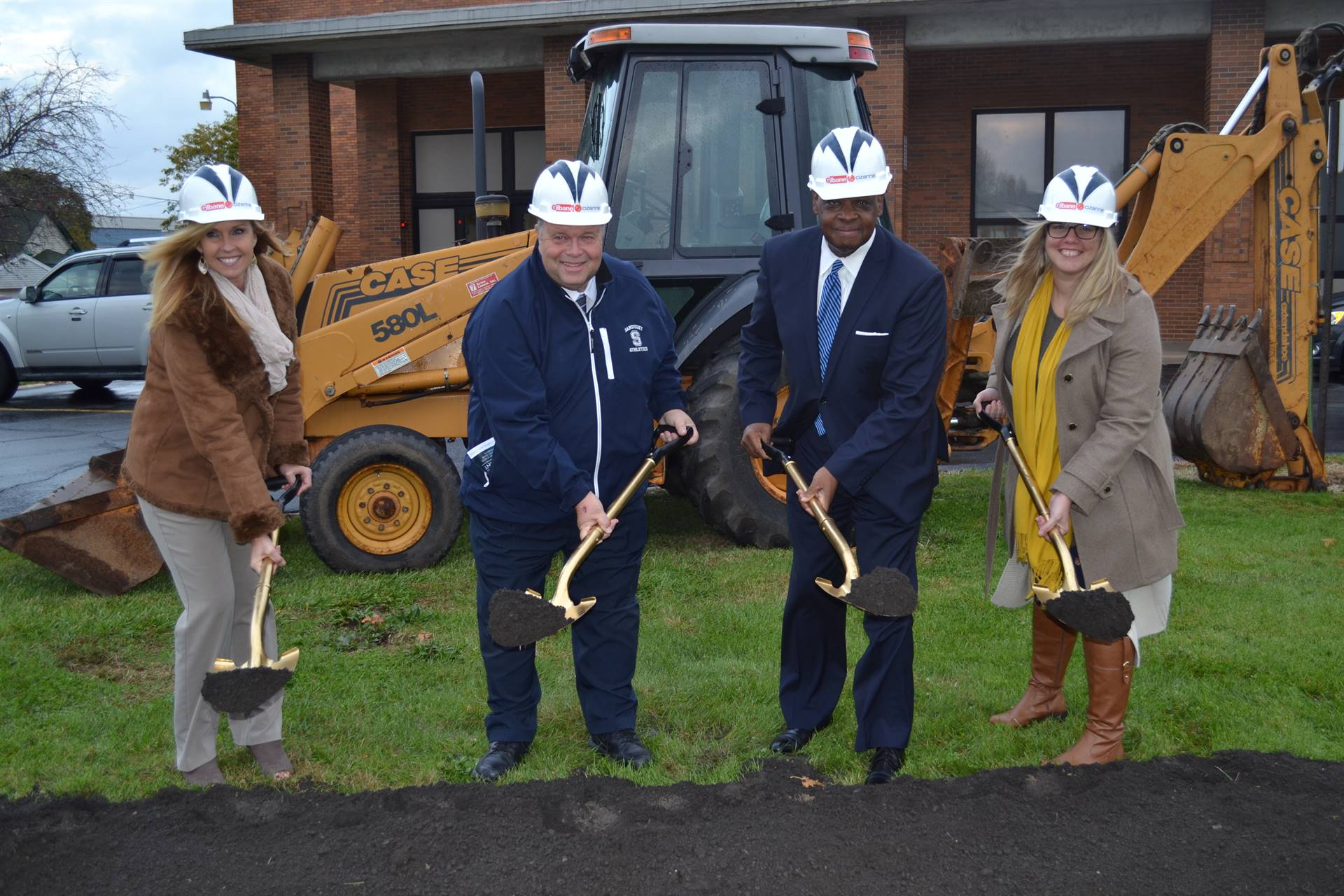 The Senior Leadership Team at the Ontario Primary Groundbreaking Ceremony