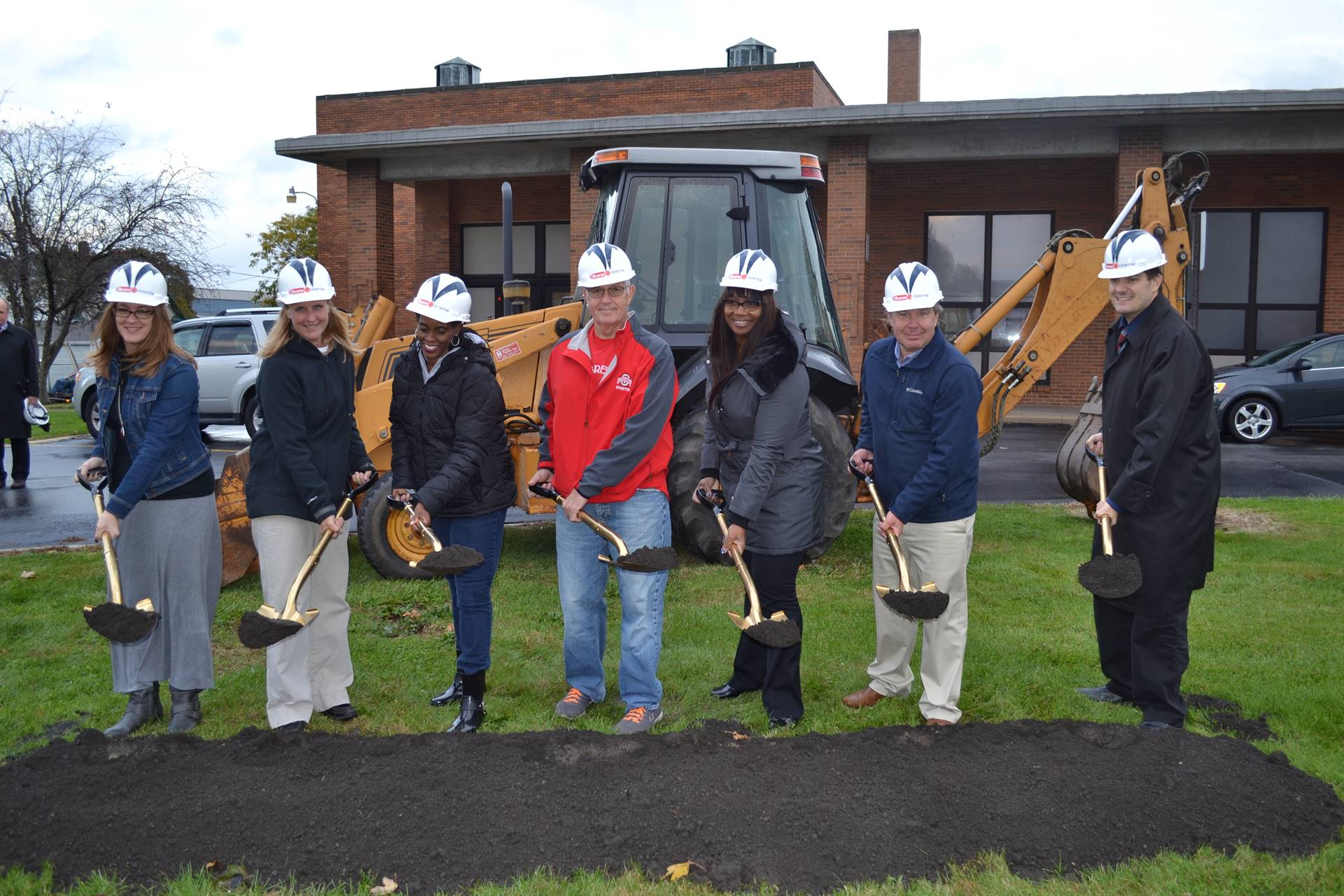 Elementary Principals at the Ontario Primary Groundbreaking Ceremony