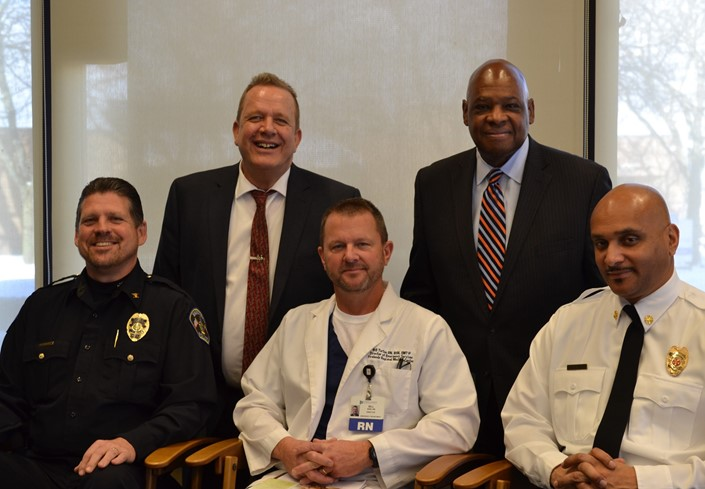 Between the Lines with Matt Westerhold, Dr. Sanders, Chief Orzech, Bill Turton, and Chief Wilcox