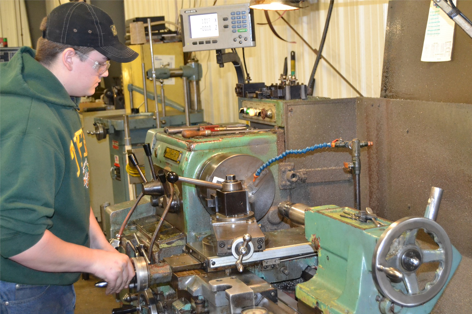 Student Interns with Blue Chip Machine & Tool