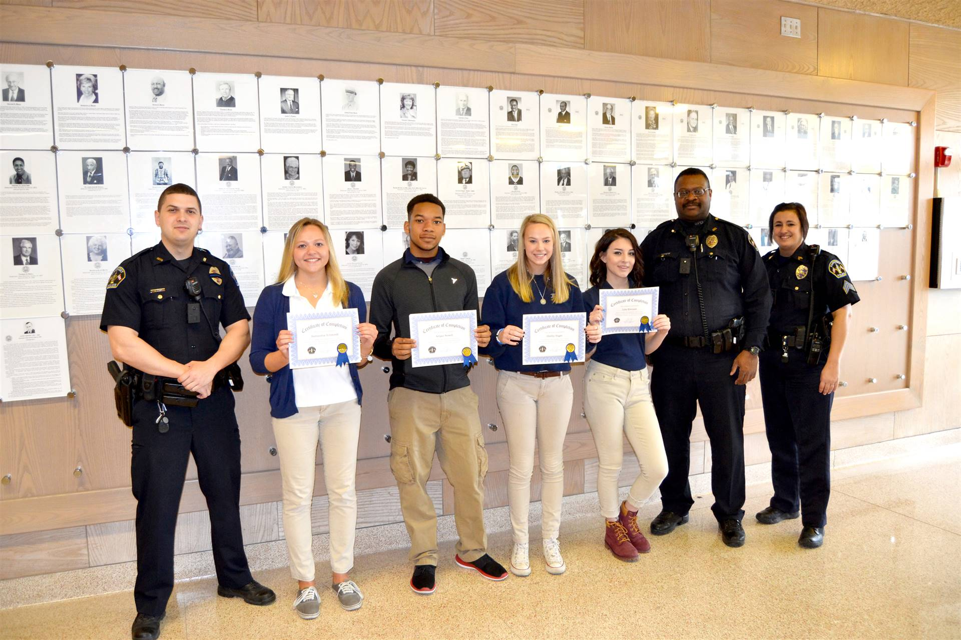 Global Internship Students with Sandusky Police Department