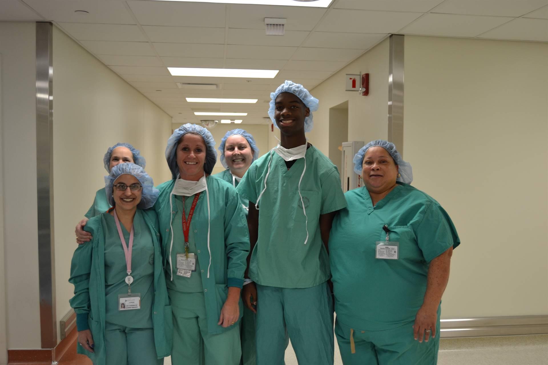 Student interning at Firelands Regional Medical Center