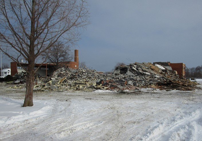 Demolition of the former Ontario Elementary Building