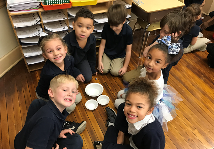 Osborne Elementary 1st Graders Conduct an Ice Melting Experiment
