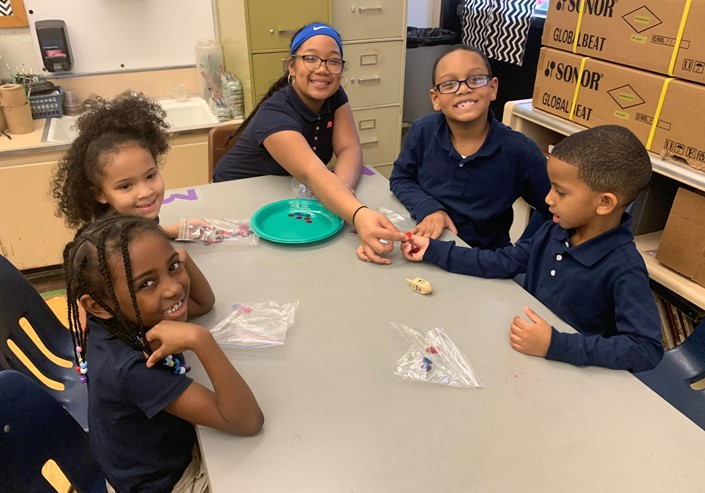 Students in Mrs. Matsumura's Music Class Learn About Hanukkah and Played the Dreidel Game
