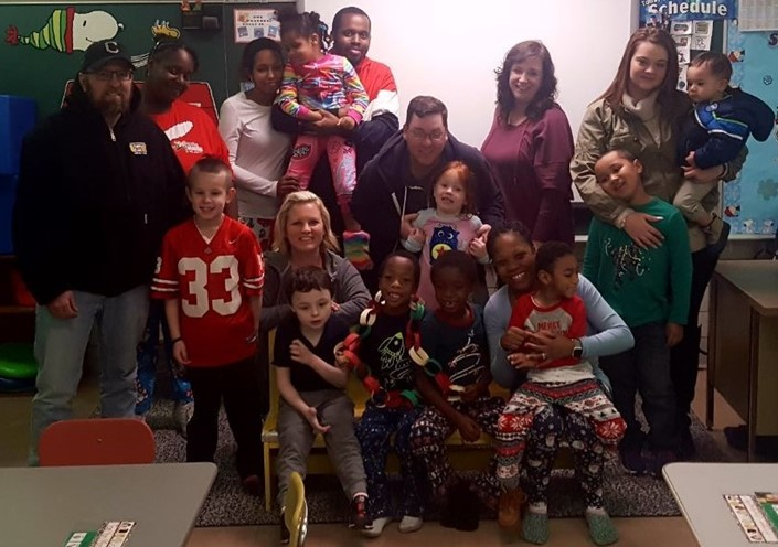 Students in Mrs. Nickle's Class at Venice Heights Elementary Held a Pancakes & Pajamas Parent Involvement Event