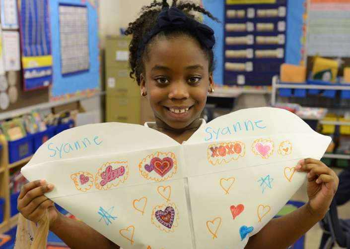Valentine's Day at Hancock Elementary - Photo Courtesy of the Sandusky Register
