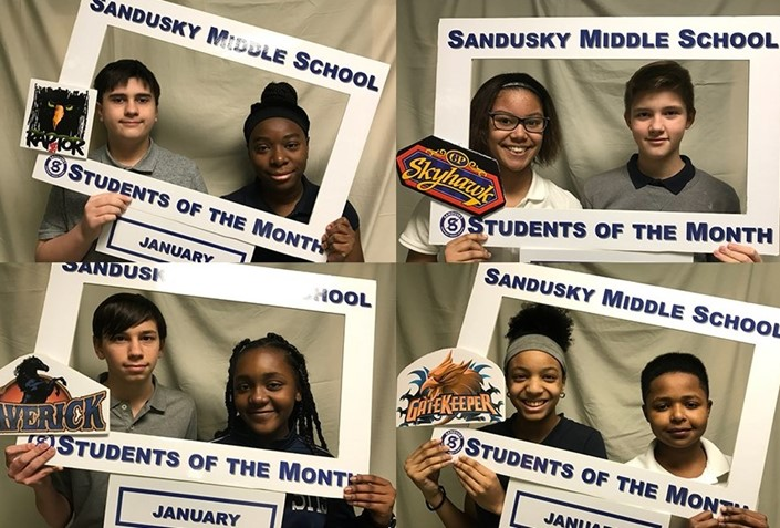 Congratulations to the January SMS Students of the Month!