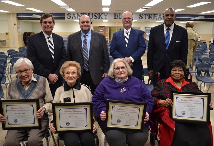 District Leadership Lifetime Achievement Award Winners at the State of the Schools Address