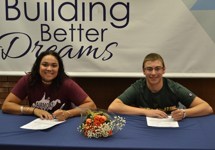 Mariah Clinton Signs with Fairmont State University for Softball & Skylar Kane Signs with Tiffin University for Tennis