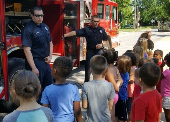 Kindergarten Camp 2018 with the Sandusky Fire Department