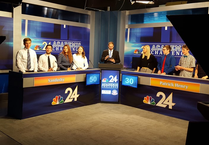 SHS Academic Challenge Team Traveled to NBC 24 New Studio to Record a Segment of the Academic Challenge Game Show