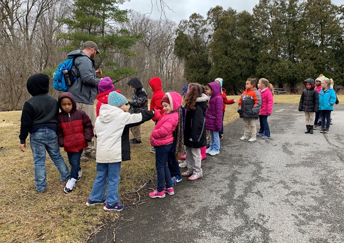 Students in Mrs. White's Class Study Nature at Osborne Park