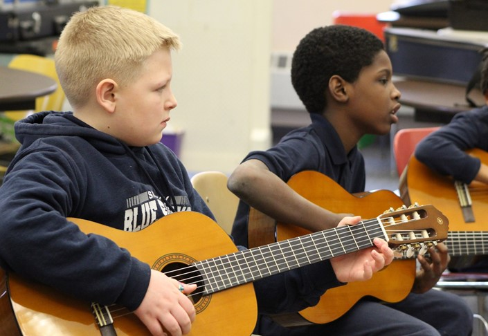Students Practice at the Junior Arts Academy