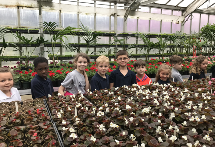 Osborne Elementary First Grades Visit the City Greenhouse