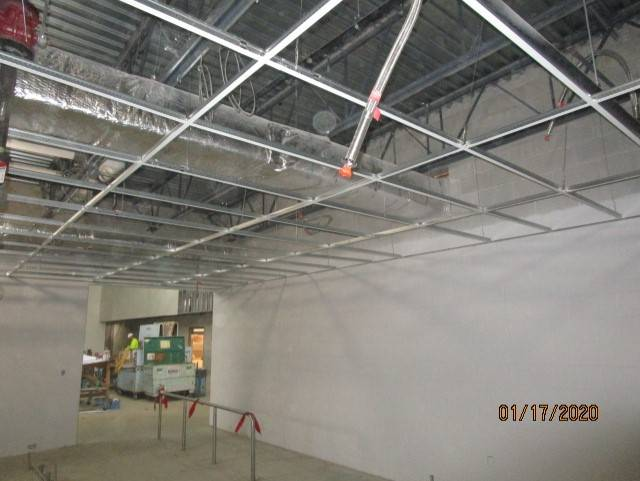 Grid Ceiling System is Started in the Kitchen