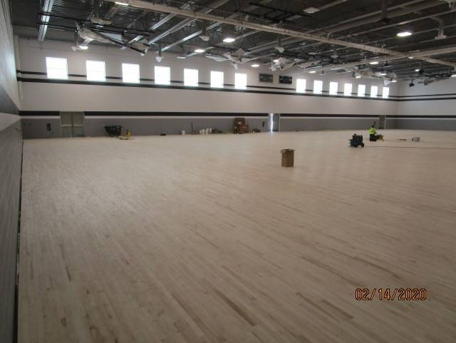 Maple Floor is Done in Gym