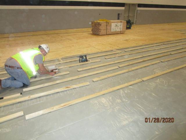 Starting of the Gym Floor