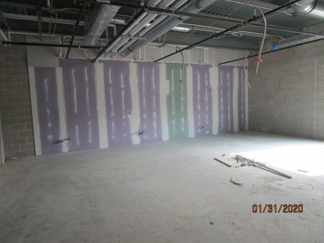 1st Floor East Has Drywall Hung and Taping Started