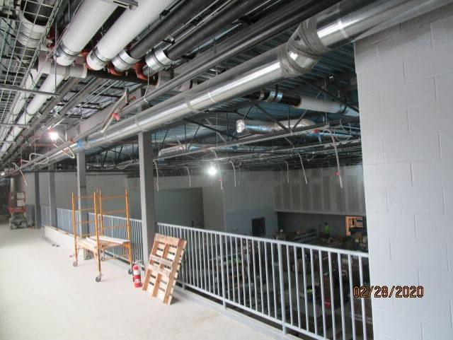 Second Floor Connector Overlooking the Cafeteria
