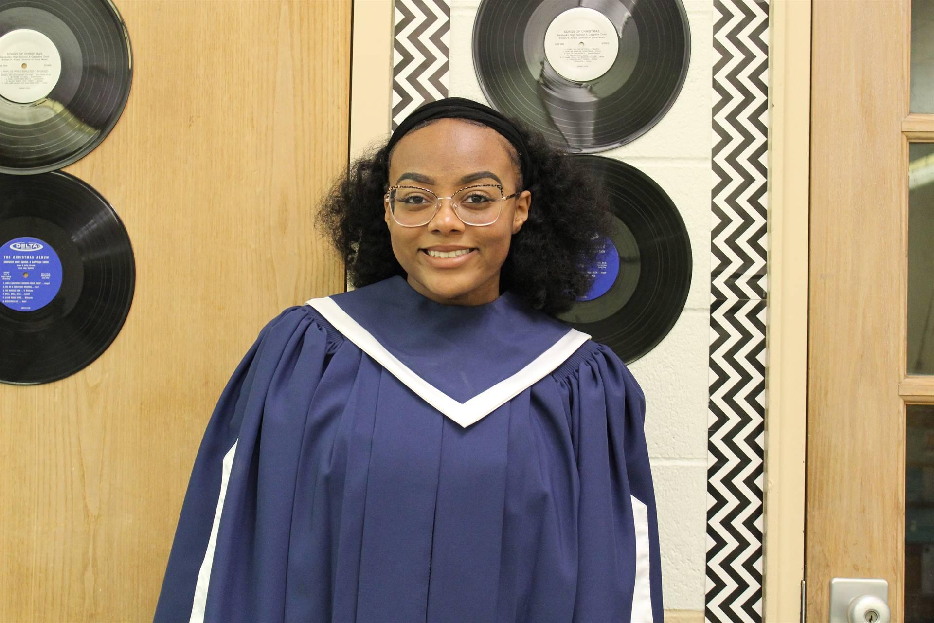Student in Choir Robe